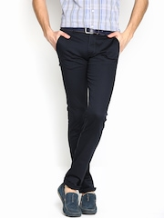 Allen Solly Men Navy Ultra Slim Fit Chino Trousers