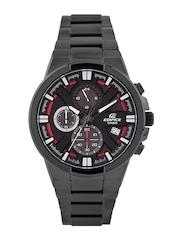 Casio Edifice Men Black Chronograph Dial Watch EX229