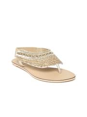 Catwalk Women Gold-Toned Flats