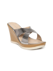 Catwalk Women Steel-Toned Wedges