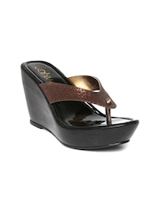 Catwalk Women Bronze-Toned Wedges