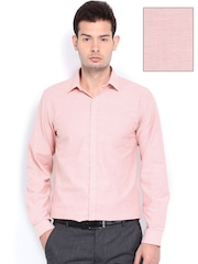 Black Coffee Men Pink Slim Fit Formal Shirt