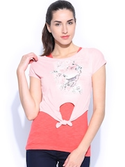 Honey by Pantaloons Women Coral Pink Top