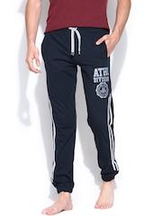 SDL by Sweet Dreams Men Navy Printed Lounge Pants F-MP-0092
