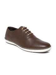 Allen Solly Men Dark Brown Leather Casual Shoes