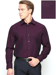 John Players Men Burgundy Formal Shirt