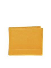 United Colors of Benetton Men Mustard Yellow Leather Wallet