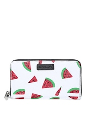 United Colors of Benetton Women White Printed Wallet