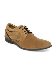 Buckaroo Men Tan Brown Fravisto Suede Casual Shoes