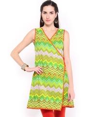 Vishudh Women Green Printed Kurta