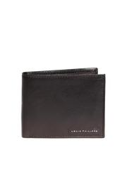 Louis Philippe Men Black Leather Wallet
