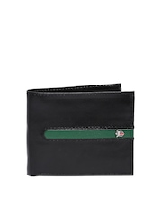 Louis Philippe Men Black Leather Wallet