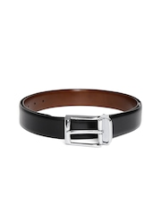 Louis Philippe Men Black & Brown Reversible Leather Belt