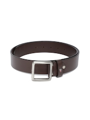 Louis Philippe Men Coffee Brown Leather Belt