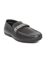 Numero Uno Men Black Leather Loafers