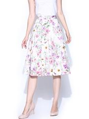 Vero Moda Multicoloured Floral Printed Flared Skirt