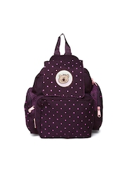 Star Gear Girls Purple & Pink Polka Dot Printed Backpack