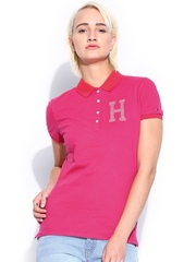 Tommy Hilfiger Women Pink Polo T-shirt
