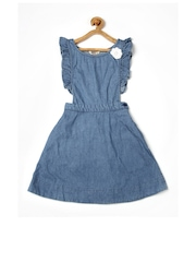 People Candy Crush Girls Blue Dungaree Dress