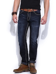 Roadster Men Dark Blue Slim Fit Jeans