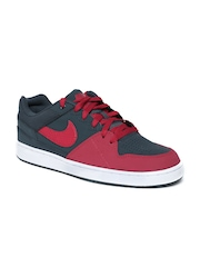 Nike Men Charcoal Grey Priority Leather Casual Shoes