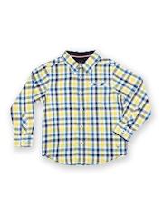 Allen Solly Junior Boys Yellow & Blue Checked Casual Shirt