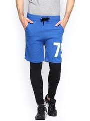 Jack & Jones Men Blue & Black Shorts cum Track Pants
