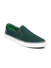 Roadster Men Green Loafers