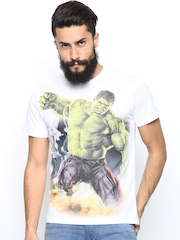 Hulk by Free Authority Men White Printed T-shirt