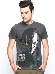 Joker by Free Authority Men Grey Printed T-shirt