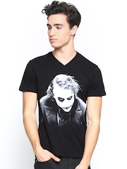 Joker by Free Authority Men Black Printed T-shirt