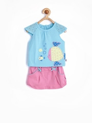 FS Mini Klub Girls Blue & Pink Clothing Set