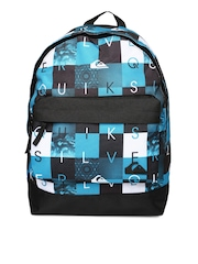Quiksilver Men Blue & Black Printed Backpack