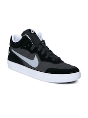 Nike Men Grey & Black Tiempo Trainer Leather Casual Shoes