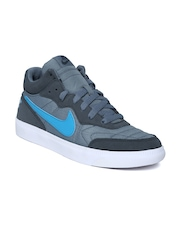 Nike Men Grey Tiempo Trainer Leather Casual Shoes