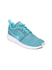 Nike Women Blue Rosherun Flyknit Running Shoes