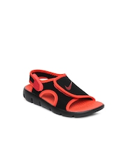 Nike Boys Black Sunray Adjust 4 Sports Sandals