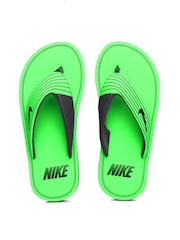 Nike Men Green & Grey Chroma Thong III Flip-Flops