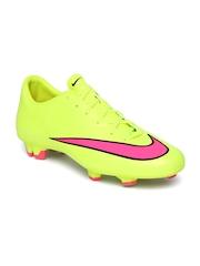 Nike Men Fluorescent Green Mercurial Victory V FG Football Shoes