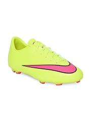 Nike Kids Fluorescent Green Jr Mercurial Victory V FG Football Shoes