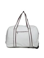 Veneer Unisex Grey Trolley Duffle Bag
