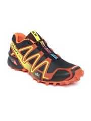 Salomon Men Black & Orange Speedcross 3 Running Shoes