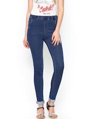 Kraus Jeans Women Blue Slim Fit Jeggings