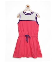 Inmark Girls Pink Fit & Flare Dress