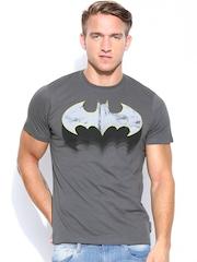 Batman by Free Authority Men Grey Printed T-shirt