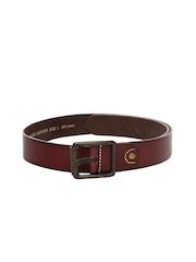 WAC by Wrangler Men Burgundy Leather Belt