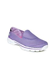 Skechers Women Purple Go 3 Walking Shoes