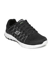 Skechers Men Black Skech-Flex Sports Shoes