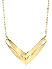 Vero Moda Gold-Toned Matinee Necklace