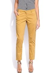 U.S. Polo Assn. Women Mustard Yellow Skinny Fit Trousers